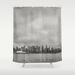 Vancouver Raincity Series - Raincity i - Moody Downtown Vancouver Cityscape Shower Curtain
