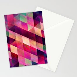 Isometric Geometry 887 // Neon Oil Slick Stationery Cards