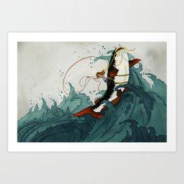 Wave Rider Art Print