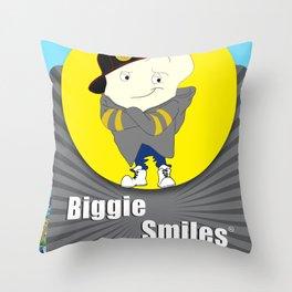 Biggie Smiles Throw Pillow
