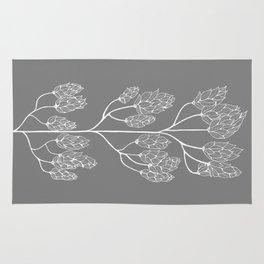 Leaf-like Sumac in Grey Rug