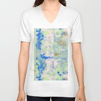 tie dye V-neck T-shirts featuring Tie Dye by Wendy Ding: Illustration