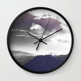 Galaxy Mountain #society6 #buyart #decor Wall Clock