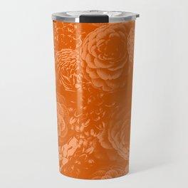 Moody Florals in Orange Travel Mug