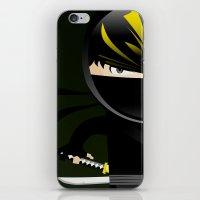 ninja iPhone & iPod Skins featuring Ninja by Stephen Yan