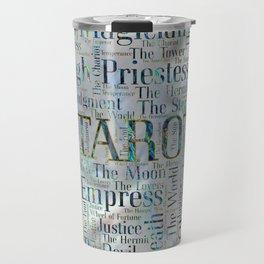 Tarot Major Arcana Word Art  on Pearl Travel Mug
