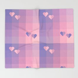 With love. Hearts Throw Blanket