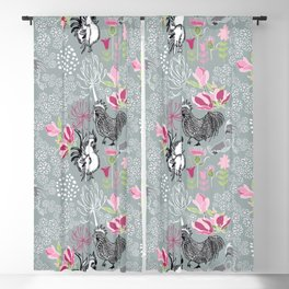 Magnolia Roosters Blackout Curtain