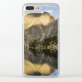 Aiguestortes sunset Clear iPhone Case