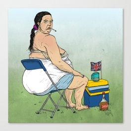British Summer Fat Arse Canvas Print
