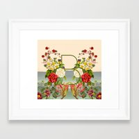 botanical Framed Art Prints featuring Botanical by Blue Jean Genie