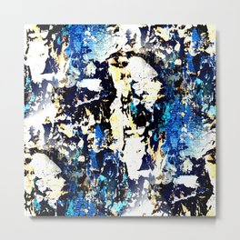 Urban decay - textured abstract I Metal Print