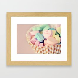 Je T'aime Valentine Framed Art Print