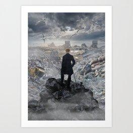 Wanderer above the Sea of Trash Art Print