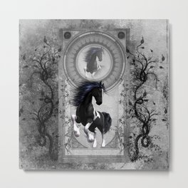 Wonderful horse in black and white Metal Print