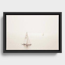 Sailing Seas Framed Canvas