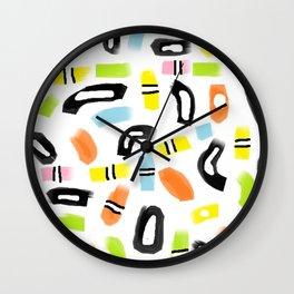Allsorts, black and multi colored Wall Clock