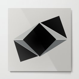 Shapes, black and grays Metal Print