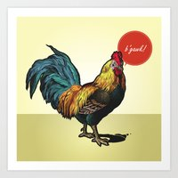 rooster Art Prints featuring Rooster by Eric Koschnick