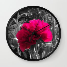 Pop of Color Flower Wall Clock
