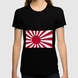 The rising sun Japemese flag in red and white T-shirt