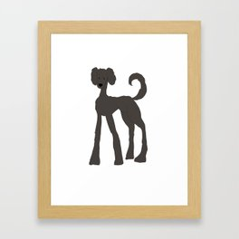 Poodle Dog Framed Art Print
