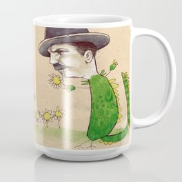 Dragon Guy with Flowers Coffee Mug