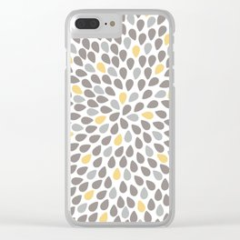 Simple leaves pattern Clear iPhone Case