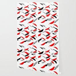 black white red grey abstract minimal pattern Wallpaper