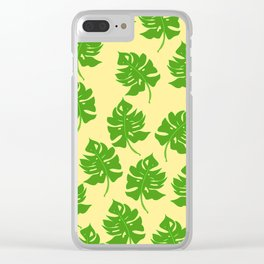 Monstera Leaf Pattern - Version Three Clear iPhone Case