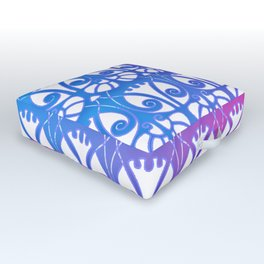 Beautiful ombre art nouveau pattern Outdoor Floor Cushion