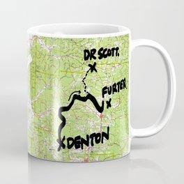 Map of Denton, USA Coffee Mug