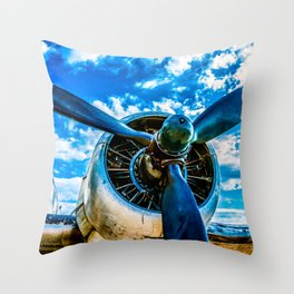 Aviation forever Throw Pillow