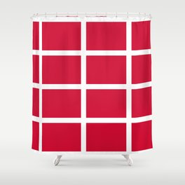 abstraction from the flag of denmark Shower Curtain