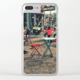 Colorful street Clear iPhone Case