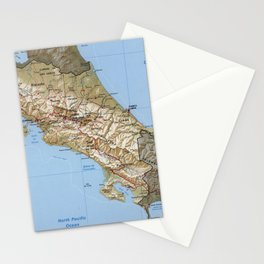 Costa Rica Map (1991) Stationery Cards