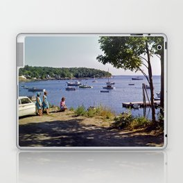 Marion Village in Rockport - Camden, Maine in the early 1960's, Retro Harbor Laptop & iPad Skin