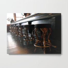 The Lonely Bartender Metal Print