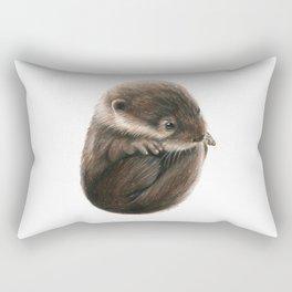 Shy Otter Rectangular Pillow