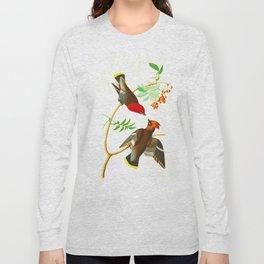 Bohemian Chatterer Bird Long Sleeve T-shirt