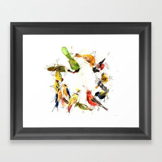 Ghosts of Gone Wreath Framed Art Print