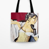 super hero Tote Bags featuring Super Hero by JephWHO