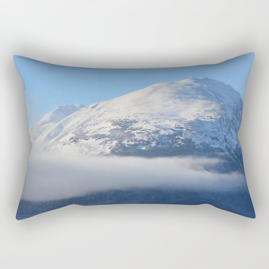 Winter Fog - Turnagain Arm, Alaska Rectangular Pillow
