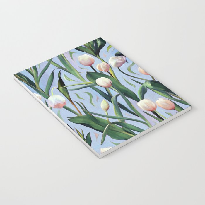 Waiting on the Blooming - a Tulip Pattern Notebook