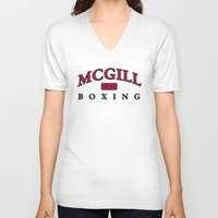 boxing V-neck T-shirts featuring Boxing by EastwardCarrot