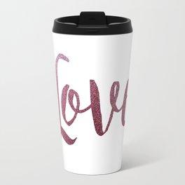 love letter pink glitter Travel Mug