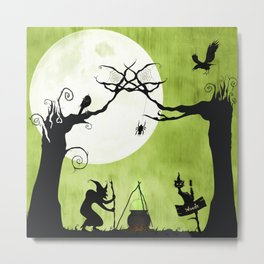 A Witch in The Woods Metal Print