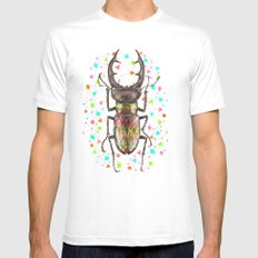 INSECT IV White MEDIUM Mens Fitted Tee