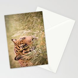 Tiger in the grass Stationery Cards