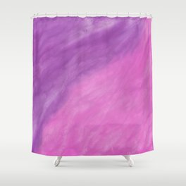 Abstract modern pink violet watercolor paint Shower Curtain